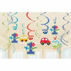 Závěsné spirály autíčka 1. narozeniny