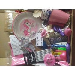 PINK UNICORN PARTY KIT