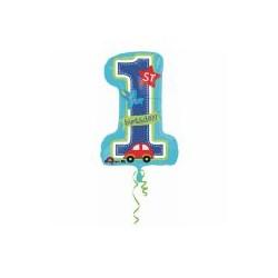 Nafukovací číslice 1. narozeniny - chlapeček