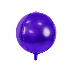Purple BALL foil balloon, 40cm