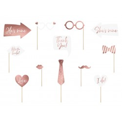 Photobooth props ROSE GOLD
